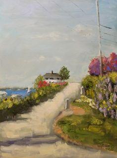Fall River, Massachusetts, painting by artist Kay Crain