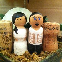 DIY Wooden Doll Peg Filipino Wedding Cake Topper