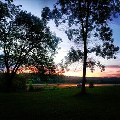 Pretty view of a sunset over Peace Valley Park, as taken by @thebiglemboski on Instagram.
