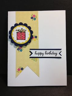 Best of Birthdays Card Handmade Card Stampin' Up! Rubber Stamping Stamp a Stack Card
