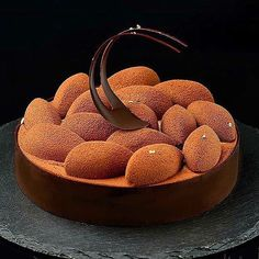 Dessert made of silicone mould: SILIKOMART PROFESSIONAL QUENELLE