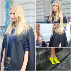 Poppy Delevigne and her neon boots