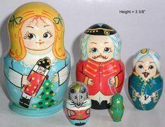 NUTCRACKER Russian Matryoshka dolls