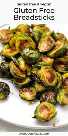 """Glazed Asian Brussel Sprouts are a sweet, salty, rich, and sticky 30 minute side dish! Naturally vegan, paleo, and gluten free. Oven """"fried"""" brussel sprouts that are golden brown and crispy get tossed in a sweet, salty, spicy, and sticky Asian glaze that lovingly coats each leave and soaks into every browned edge for maximum flavor to sprout ratio. The glaze shines, the flavors sing, and these little green vegetables are about to steal your heart. Asian Brussel Sprouts, Cooking Brussel Sprouts, Brussle Sprouts, Asian Recipes, Healthy Recipes, Fries In The Oven, No Calorie Foods, Sunday Roast"""