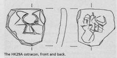 Fig. 1b: disegno dell' ostracon di fig. 1a (dal rif. 1)