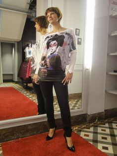 met als model of the day:  Sanne Derveaux. Outfit: Fornarina