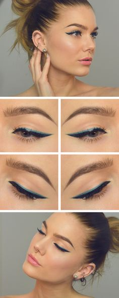Double winged eyeliner