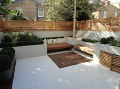 Various Projects - contemporary - Landscape - London - Harrington Porter Landscapes Ltd Back Garden Design, Terrace Design, Backyard Garden Design, Backyard Landscaping, Terrace Garden, Modern Backyard Design, Garden Table, Contemporary Garden Design, Contemporary Landscape