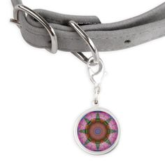 Abstract Pink and Blue Kaleidoscope Pet Tags on CafePress