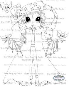 INSTANT DOWNLOAD Digital Digi Stamps Big Eye Big Head Dolls DigiBanana Pie Besite Count Trixie And Her Pets 4 By Sherri Baldy
