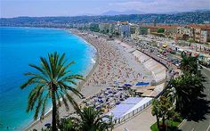 Nice, France on the Mediterranean Sea. The beach was rocks and nudity was normal.
