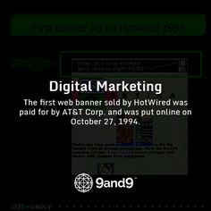 The first #webbanner sold by HotWired was paid for by AT&T Corp. and was put #online on October 27, 1994 #HistoryofDigitalMarketing #DigitalMarketing