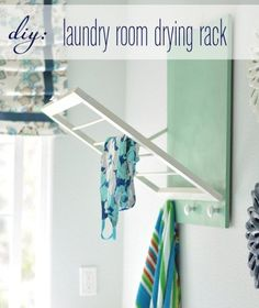 How-To: Fold-Out Laundry Room Drying Rack Living in NYC where space is definitely at a premium, I can't resist a good space-saving home solution. That's why I'm such a fan of this awesome DIY fold-out laundry room drying rack! Room Makeover, Home Organization, Laundry Mud Room, Home Projects, Laundry Room Diy, Room Organization, Home Diy, Laundry Room Drying Rack, Room Storage Diy