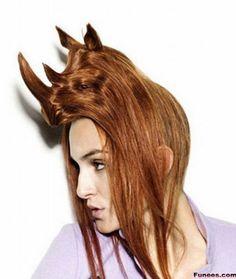Animals Look hairstyle- Rhino
