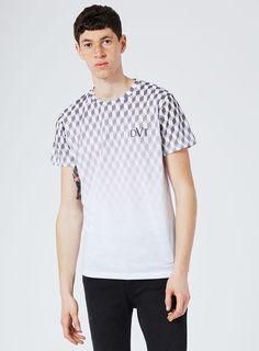280e5421 DEVOTE Black And White Geo Cube Print Blended T-Shirt* - Men's T-. Topman