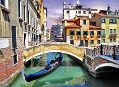 Venice, capital of northern Italy's Veneto region, is built on more than 100 small islands in a marshy lagoon in the Adriatic Sea. Its stone palaces seemingly rise out of the water. There are no cars or roadways, just canals and boats. The Grand