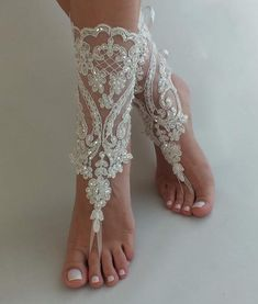 Top 10 Most Gorgeous Bridal Shoes Bridesmaid Sandals, Beach Wedding Sandals, Wedge Wedding Shoes, Bridal Shoes, Beach Shoes, Footless Sandals, Converse Wedding Shoes, Designer Wedding Shoes, Lace Weddings