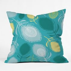 Rachael Taylor Electric Feather Shapes Throw Pillow | DENY Designs Home Accessories