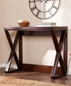 Look at this Espresso Derby Counter Height Universal Table on #zulily today!
