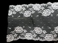 """Vintage White Chantilly Lace 9 1/2"""" Wide by 3+ Yards  Perfect  for Chapel Veil, Lingerie, Overlay"""