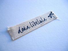 Etiqueta impresa 100% algodón