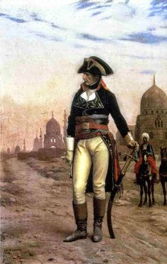 """arsvitaest: """"Jean-Léon Gérôme (French painter and sculptor, Napoleon in Egypt, ca. Oil on canvas France's Napoleon Bonaparte invaded Egypt in July 1798 with 400 ships. Military Art, Military History, Military Uniforms, Jean Leon, Napoleon Josephine, French Revolution, Napoleonic Wars, Kaiser, Art History"""