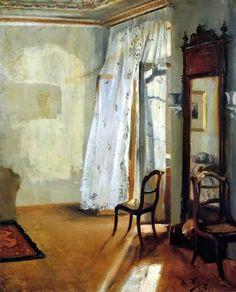 Adolf von Menzel (Polish/German, 1815-1905) - The Balcony Room, 1845
