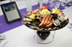 Enjoy a sumptuous seafood platter from The Gatsby Club's 3 course a la carte menu prepared by Michelin starred chef Albert Roux and his team.