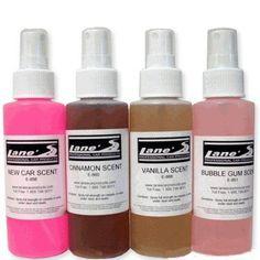 Cinnamon, Vanilla, Bubble Gum & New Car Air Freshener Kit 4 oz Each
