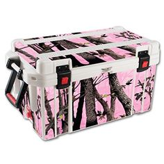 MightySkins Protective Vinyl Skin Decal for Pelican 65 qt Cooler wrap cover sticker skins Pink Tree Camo >>> For more information, visit image link.(This is an Amazon affiliate link and I receive a commission for the sales) #CoolersandAccessories