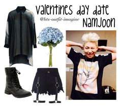 """""""Namjoon valentine"""" by ewaporter ❤ liked on Polyvore featuring Topshop and OKA"""