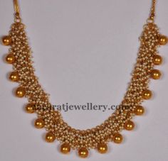 Jewellery Designs: Antique Pearls Set by Mor Jewellers