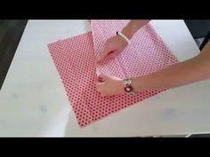 tuto housse de coussin carré avec fermeture éclair - YouTube