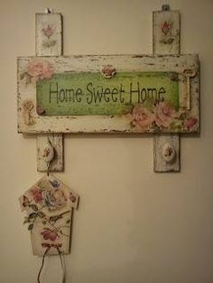 New shabby chic painting art decoupage ideas Decoupage Art, Decoupage Vintage, Shabby Vintage, Shabby Chic Homes, Shabby Chic Decor, Shabby Chic Furniture, Painted Furniture, Wood Crafts, Diy And Crafts