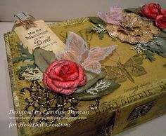 Altered Cardboard Cigar Boxes...I've done this with the wooden ones too!!