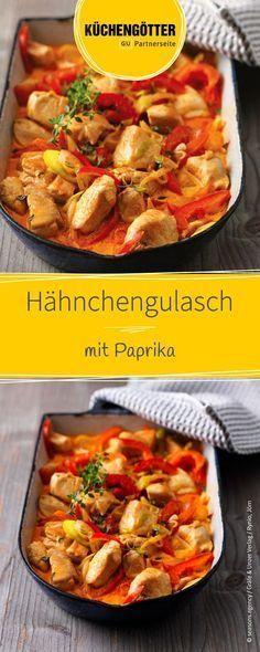 Rezept für Hähnchengulasch mit Paprika