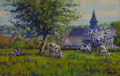 Pays d'Auge Normandie Oeuvre de Michèle Ratel 46 X 33 (8P)