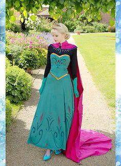 :O Spectacular!!!  Disney Moive Frozen Snow Queen Elsa Gown Made Cosplay Costume Coronate Dress