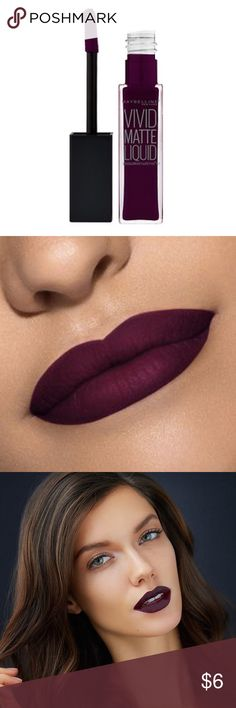 Vivid Matte Liquid Lip Color - Possessed Plum Maybelline's Color Sensational Vivid Matte Liquid Lip Color has a creamy liquid base for a soft, cushiony feel. Never used! NEW!                                                                                                                                               Save on shipping when you bundle!                                       30% off bundles of 2 or more!                                                        ▪️ No trades or PayPal…