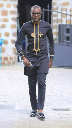Niyi African men shirt and a matching pant set/African clothing/African men clothing/African men shirt /dashiki/summer/prom/groom suit - This elegant outfit is handmade with love. The shirt is designed with high quality materials and al - African Dresses Men, African Attire For Men, African Clothing For Men, African Shirts, African Wear, African Wedding Attire, African Outfits, Nigerian Men Fashion, African Men Fashion