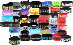 """""""Rubber Braclets!!!!"""" by stayxmetal ❤ liked on Polyvore"""