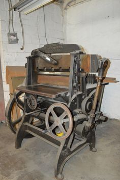 Items similar to Stunning Century Working Industrial Guillotine/Paper Cutter -Museum Quality! Oswego NY 1881 on Etsy Guillotine Paper Cutter, Letter Press, Character And Setting, Antique Tools, Printing Press, Letterpress Printing, Little Boxes, Weathered Wood, Dieselpunk