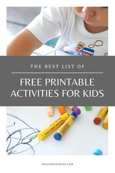 List of free printable activities for bored kids at home #printable #kidsactivities