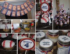 Detroit Tigers baseball party and baseball cupcakes
