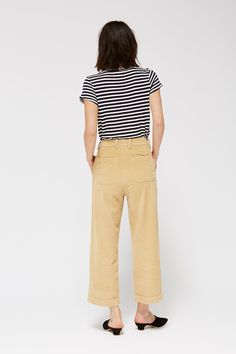 DetailsIntroducingthe Frankie Trousers: modeled after the fit of our Isabelle Trousers, the Frankies are made from a cotton corduroy. With a slight a-line shap
