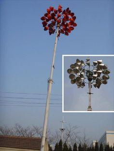Red Wind Turbine by Qingdao Jinfan Energy Science & Technology Co. Ltd_China
