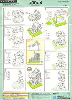 Nanoblock Moomintroll Kit: Instructions | Flickr - Photo Sharing!