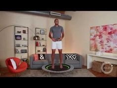"""""""A challenging workout to build strength and endurance. """" Build strength with this challenging workout with Jeremy. This is a workout for advanced levels. Mini Trampoline Workout, Rebounder Trampoline, Trampolines, Dance Workout Videos, Gym Workouts, Workout Tips, Rebounding, Weight Training, Fitness Tips"""