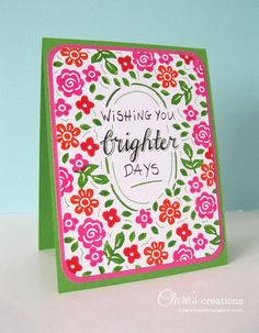 Hand-carved floral stamps and hand-lettering | Clare's creations
