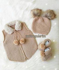 Likes # Records # Broken # 35 # Crochet # Handmade # Flowered # Beaded – cardigan Baby Knitting Patterns, Baby Booties Knitting Pattern, Knitting For Kids, Knitting Socks, Handgemachtes Baby, Leather Bag Pattern, Crochet Bebe, Moda Emo, Baby Girl Dresses